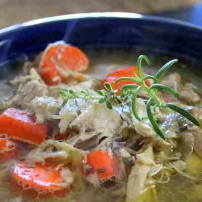 Simple Chicken Soup from Scratch