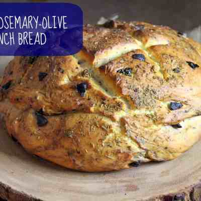 Vegan Rosemary-Olive French Bread