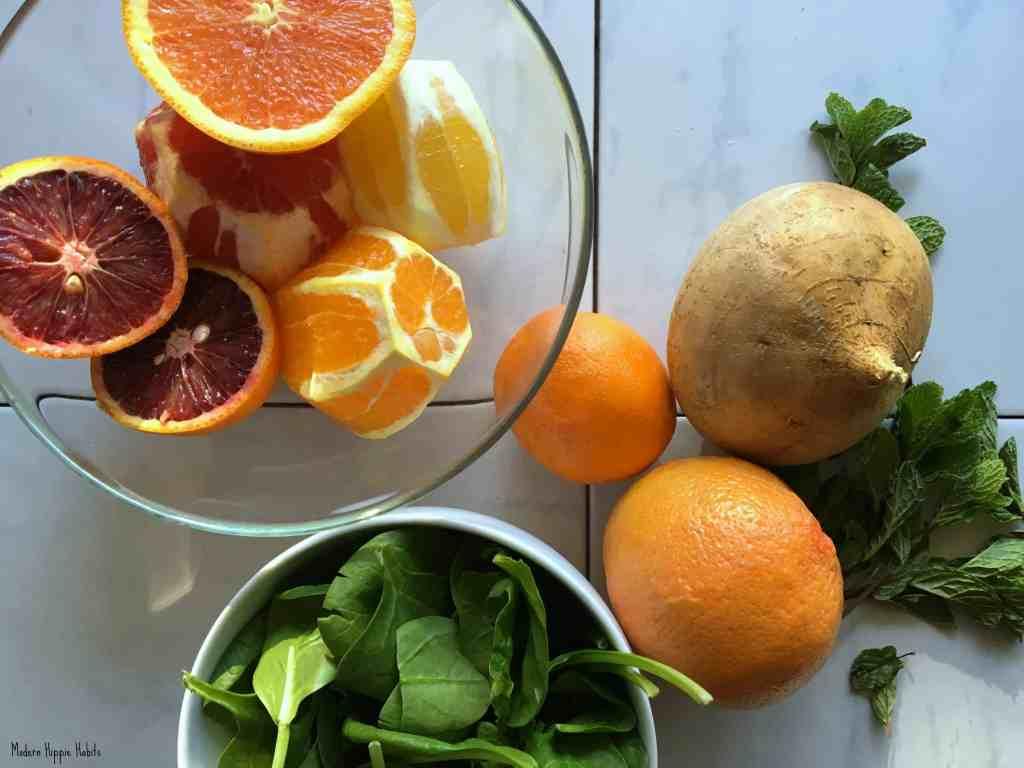 Citrus Jicama Mint Salad Ingredients
