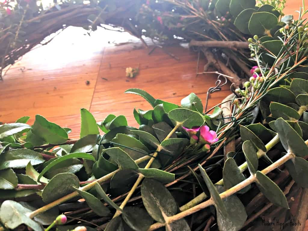 DIY Fresh Spring Wreath Eucalyptus