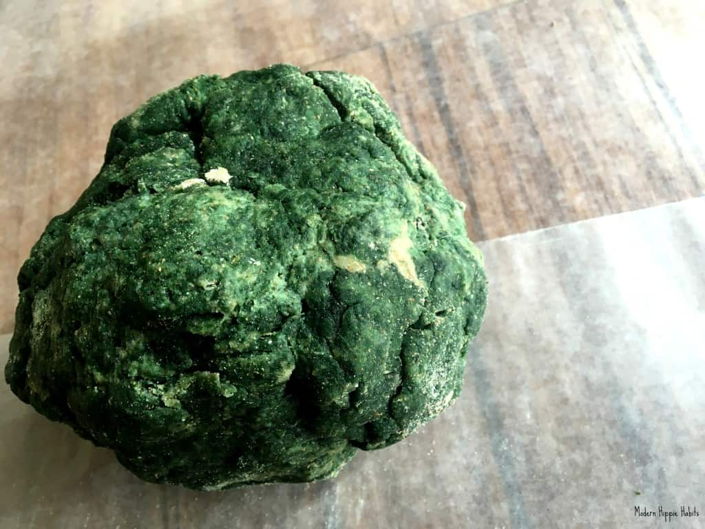 St Patrick's Day Dog Treat Recipe Dough Ball