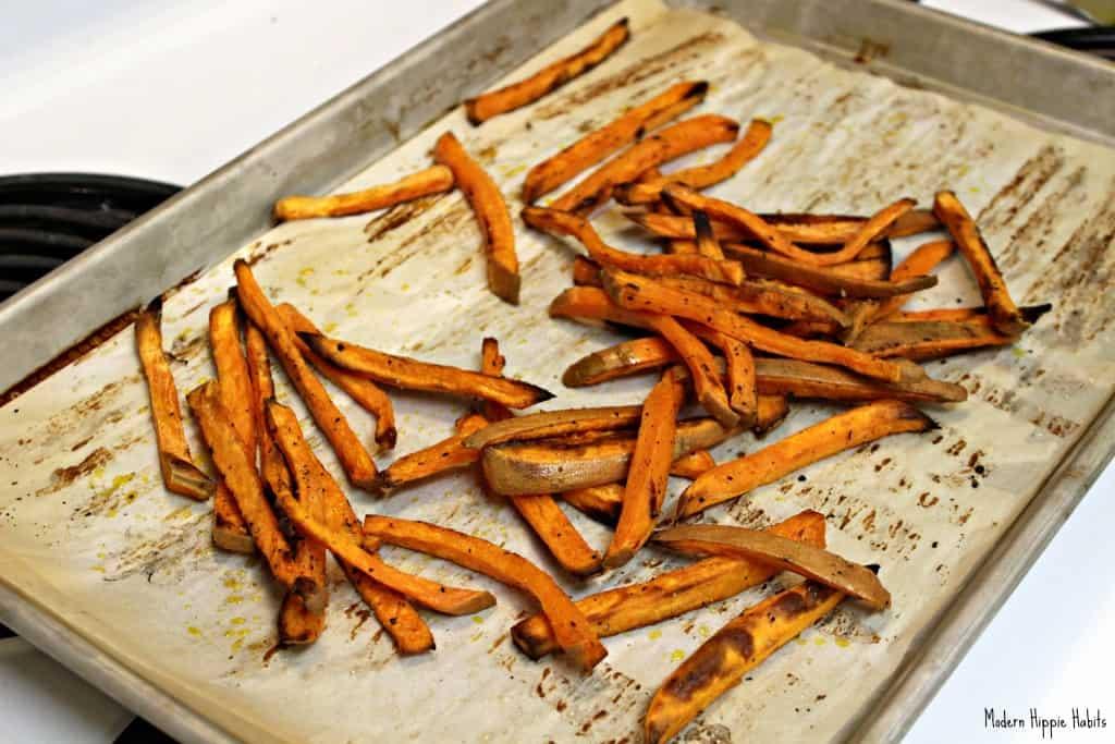 Sweet Potato Fries Cooked