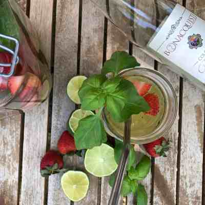 Strawberry, Lime, and Basil Summer Sangria