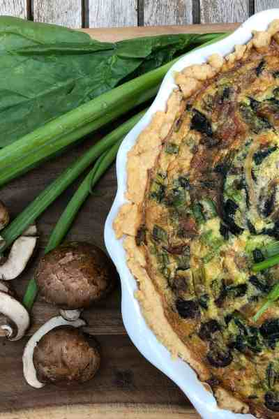 Spinach and Mushroom Quiche with Happy Egg Co. #Sponsored