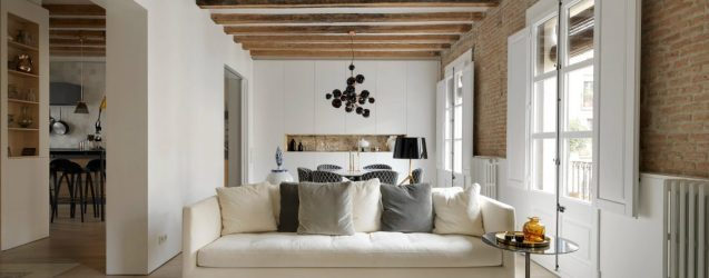 This Apartment Brings Contemporary Style to Medieval Barcelona Modern Home Decor