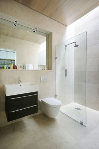 Bathroom Design Ideas: Use the Same Tile On the Floors and