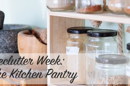 Declutter Week: The Kitchen Pantry