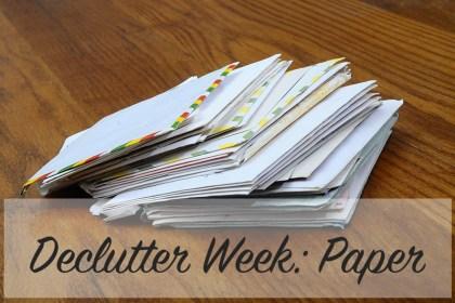 Declutter Week: Paper