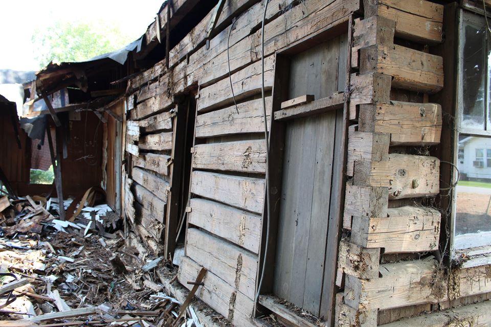Civil War Log Cabin Discovered During Demolition