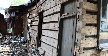 Civil War Log Cabin Discovered During Demolition