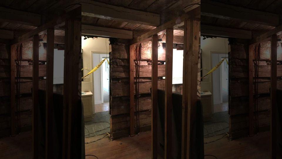 Log Cabin Discovered During Demolition