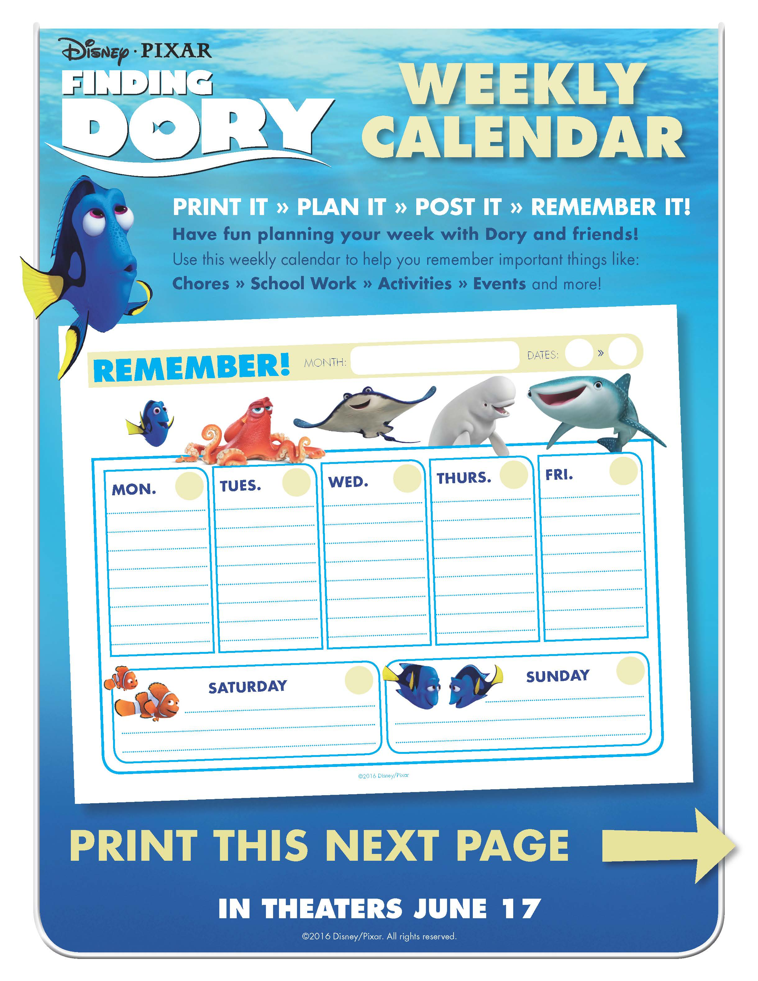 Finding Dory Printable Worksheet 3 Page 1