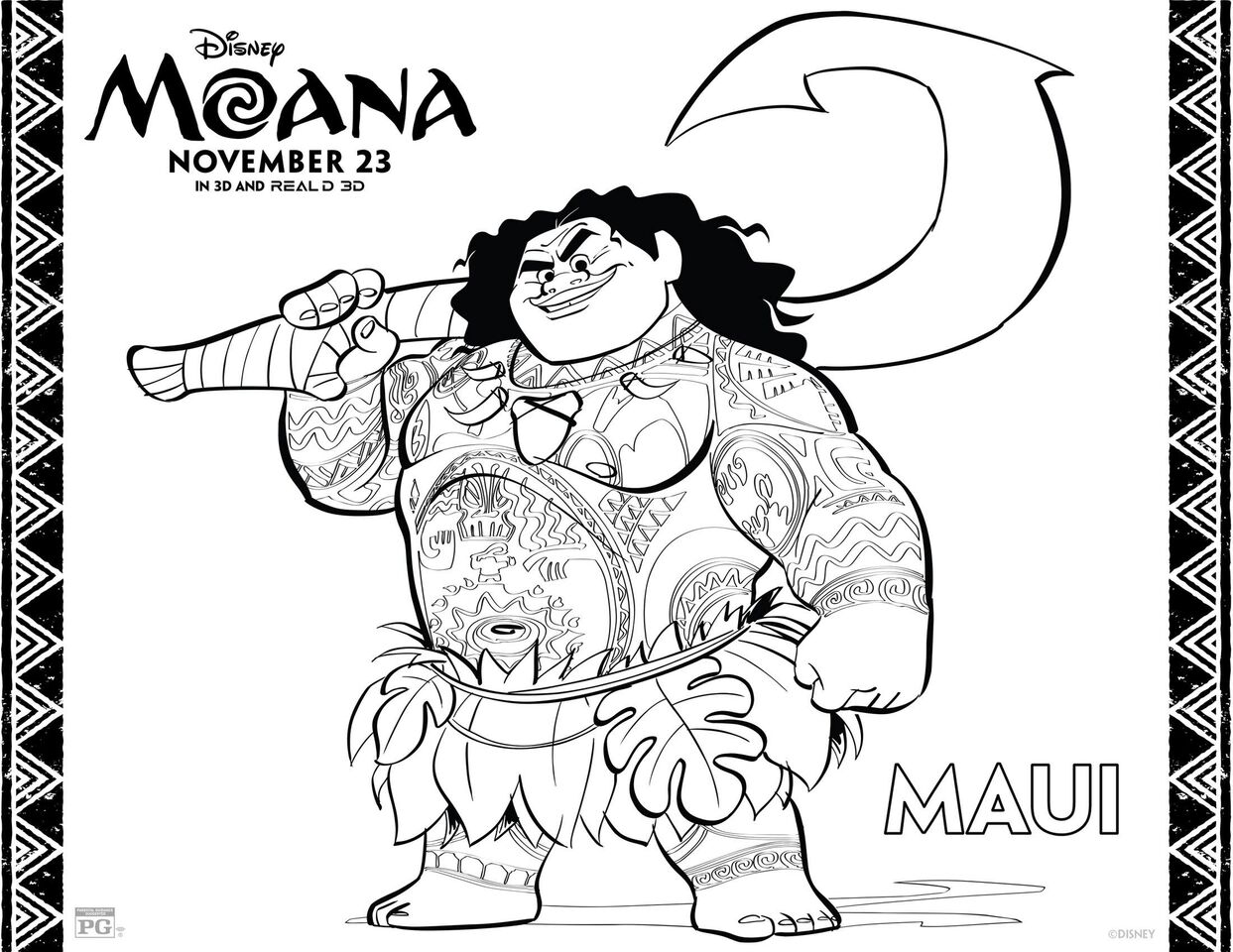 Free Printable Moana Coloring Sheets and Activity Pages