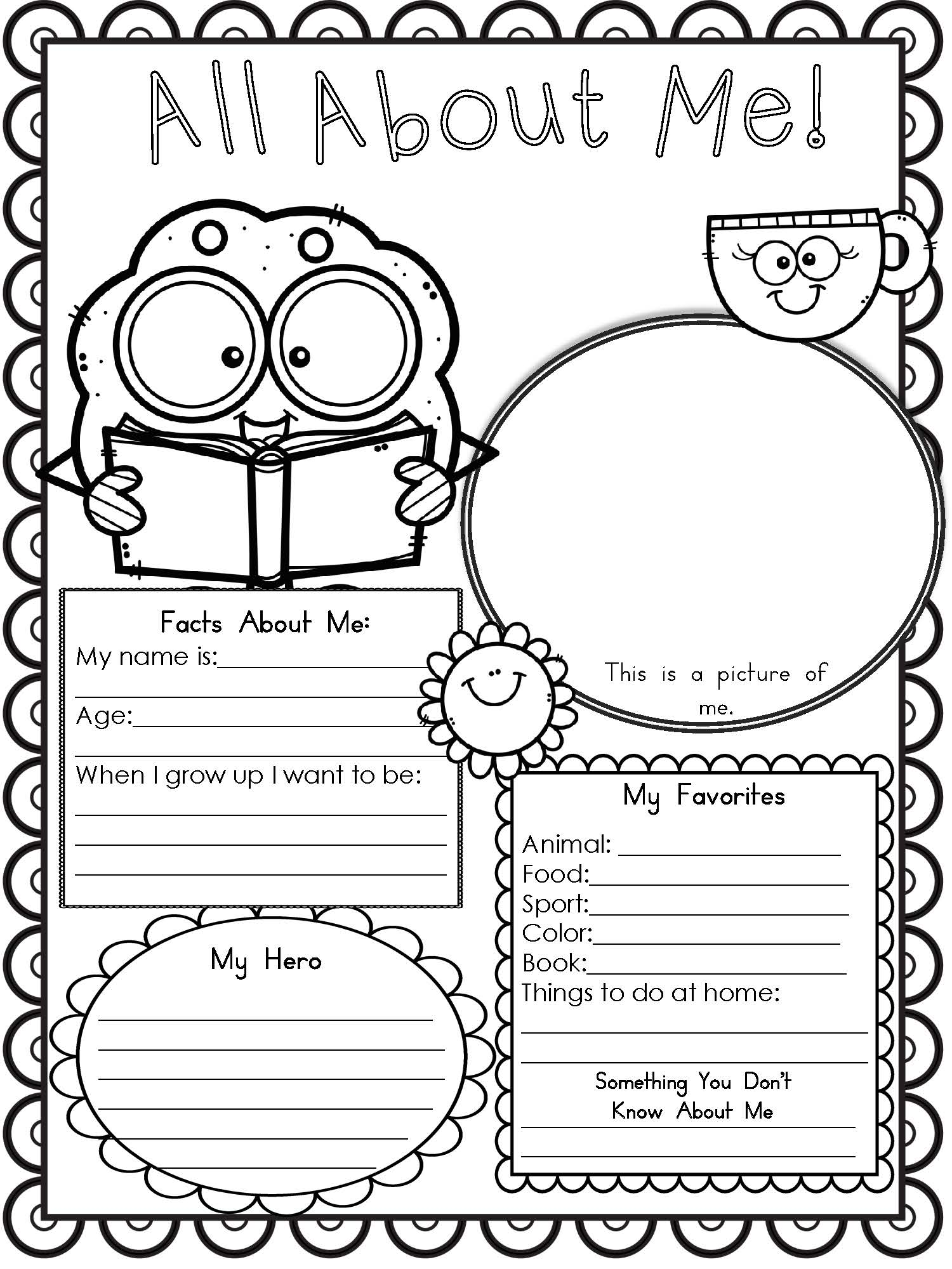My World Worksheet