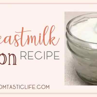 Breastmilk Lotion Recipe