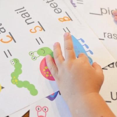 Bug Theme Preschool Worksheets (Plus Free Toddler Flashcards)