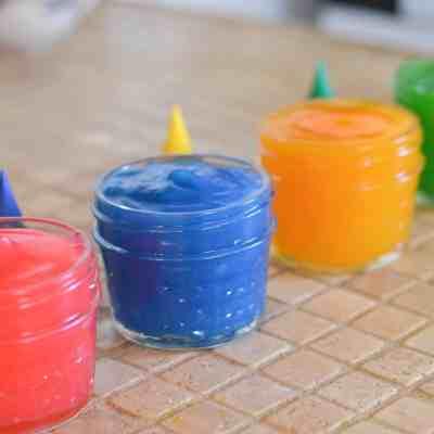 DIY Edible Finger Paint