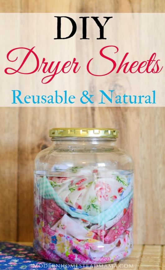 DIY Dryer Sheets - Reusable and Natural