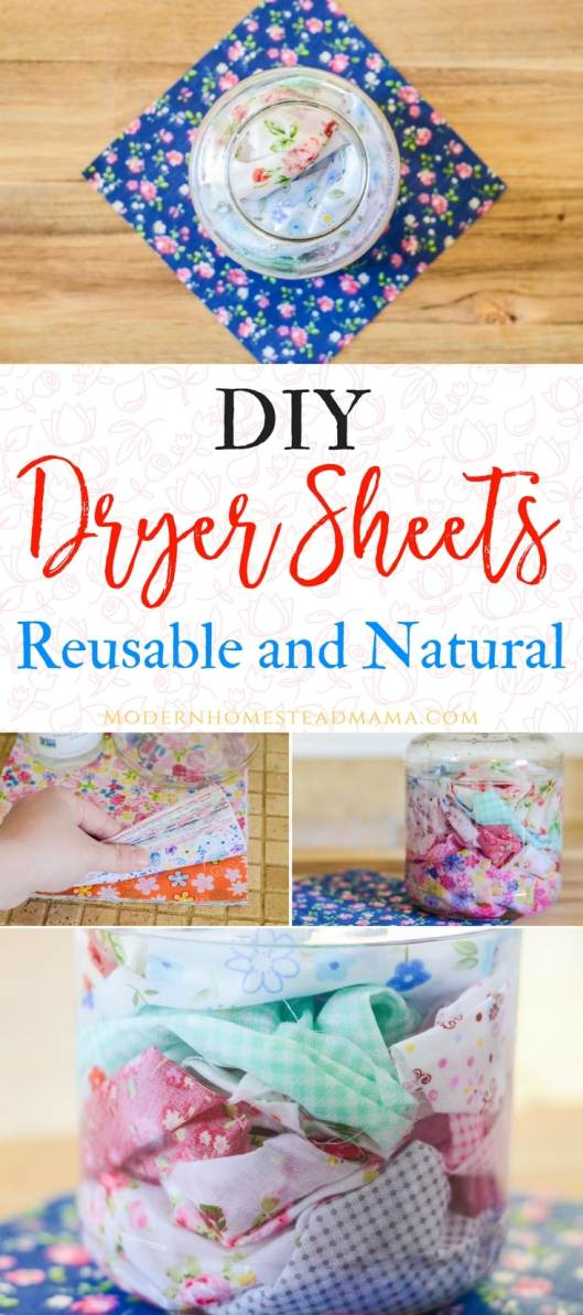 DIY Dryer Sheets - Reusable and Natural
