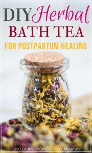 DIY Herbal Bath Tea For Postpartum Healing