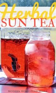 Herbal Sun Tea Recipe - Hibiscus Peppermint