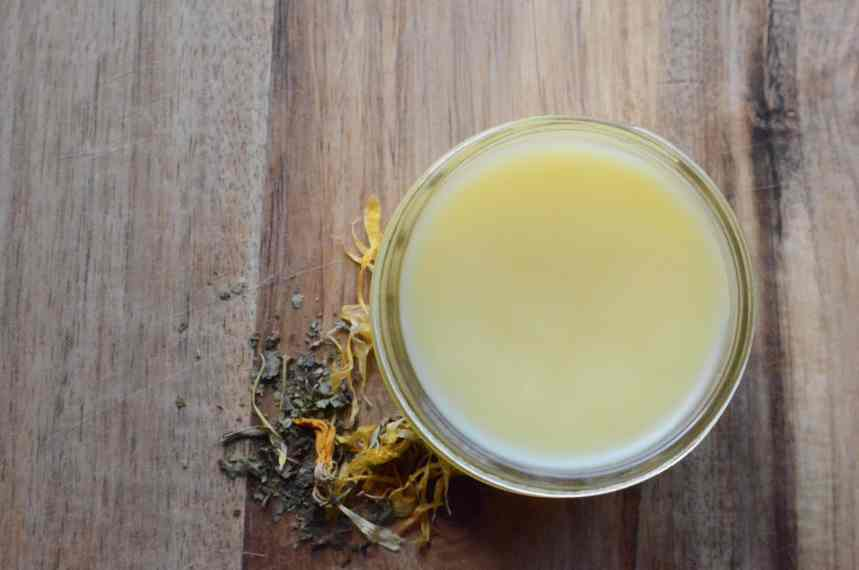 DIY Calendula Comfrey Salve - All Purpose Healing Herbal Salve
