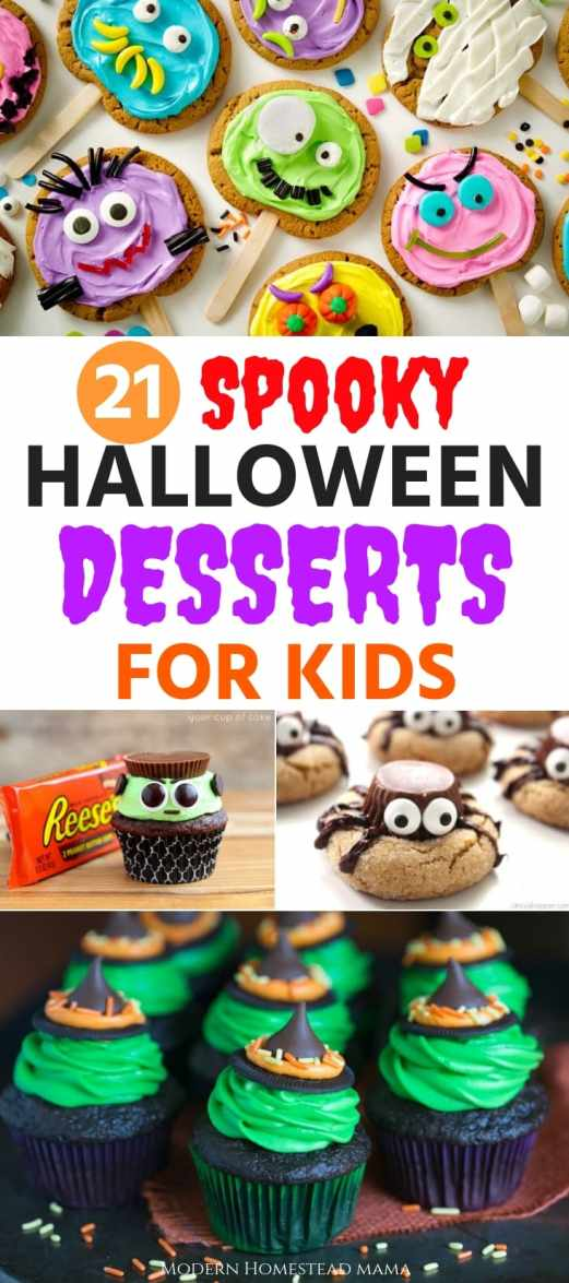 21 Spooky Halloween Desserts For Kids - Modern Homestead Mama