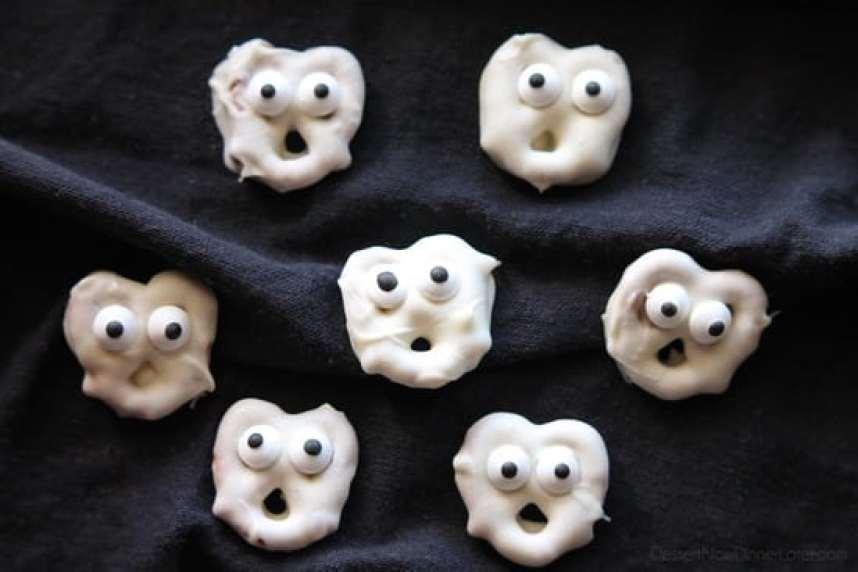 Ghost Pretzels