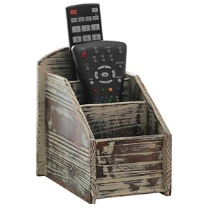 Rustic Wood Remote Control Caddy