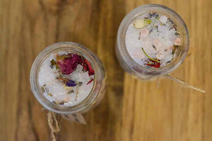 DIY Floral Bath Salts
