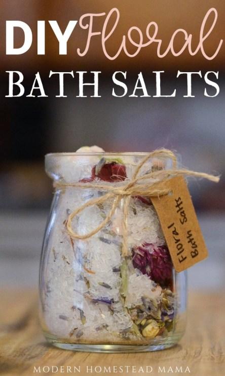 DIY Floral Bath Salts   Modern Homestead Mama