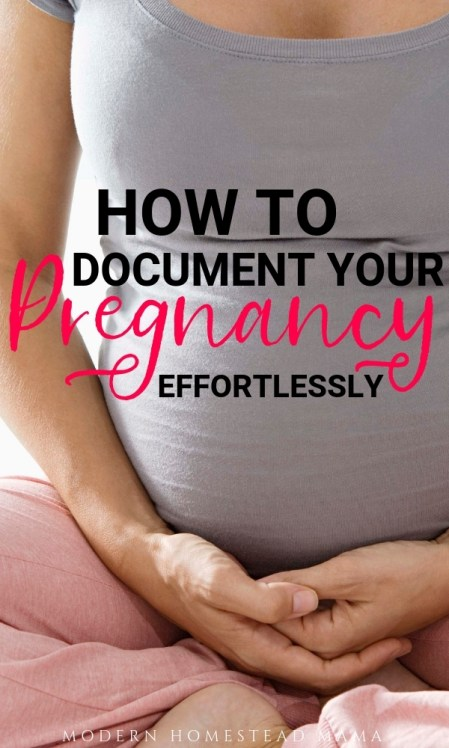 How To Document Your Pregnancy Effortlessly | Modern Homestead Mama