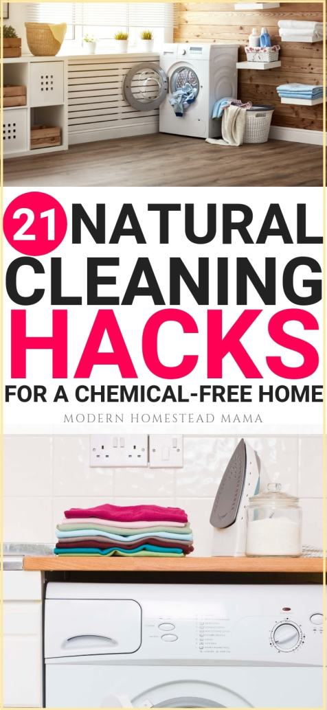 21 Natural Cleaning Hacks For A Chemical-Free Home | Modern Homestead Mama