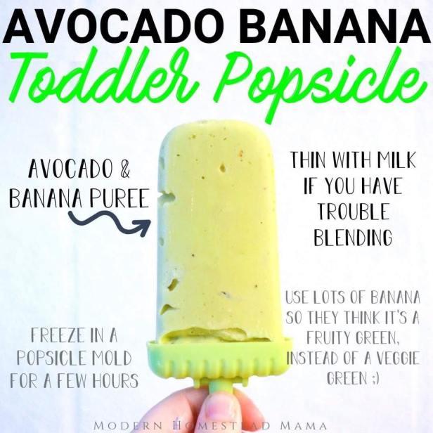 Avocado Banana Popsicle