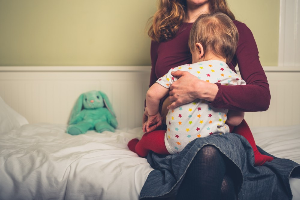 Holding Toddler Before Bedtime