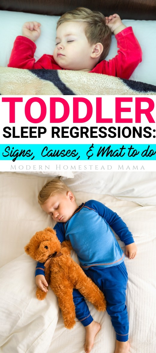 Toddler Sleep Regressions: Signs, Causes, & What To Do | Modern Homestead Mama