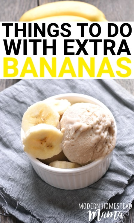 What To Do With Overripe Bananas | Modern Homestead Mama