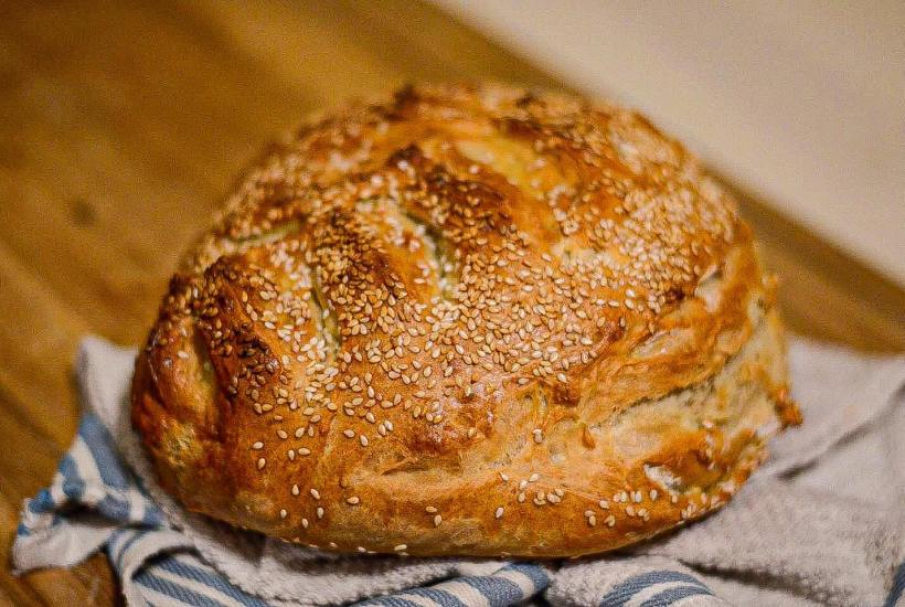 The Easiest No Knead Bread Recipe | Modern Homestead Mama