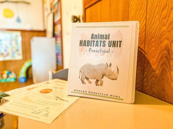 Animal Habitats Preschool Unit