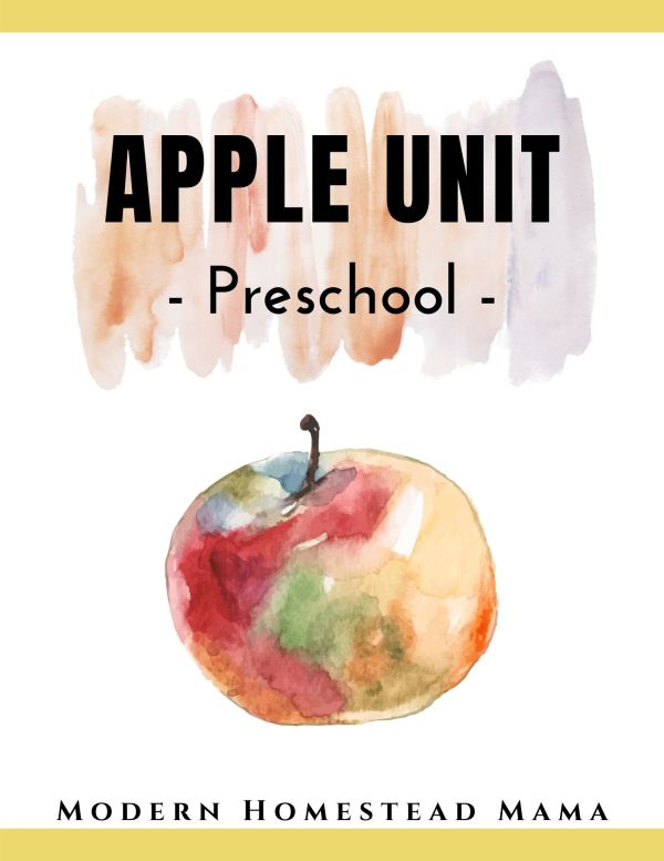 Apple Unit (Preschool)