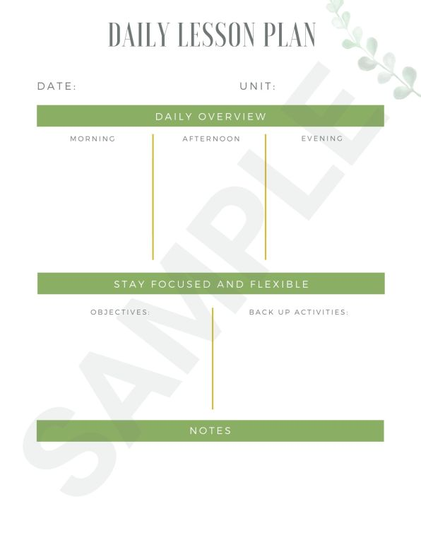 Homeschool Binder Printable Sample