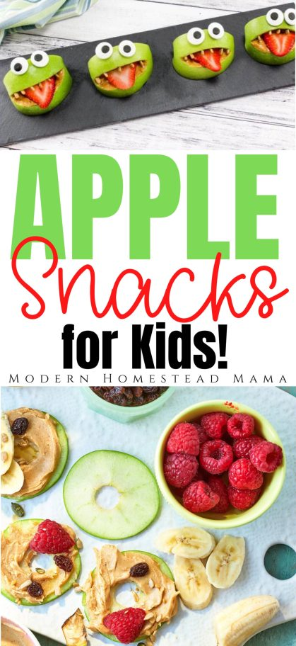 16 Fun Apple Snacks for your Kids | Modern Homestead Mama