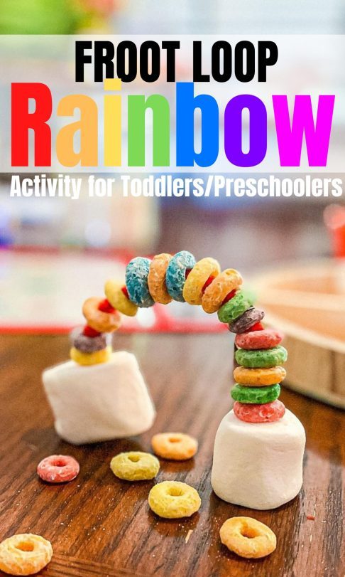 Froot Loop Rainbow Activity for Toddlers and Preschoolers | Modern Homestead Mama