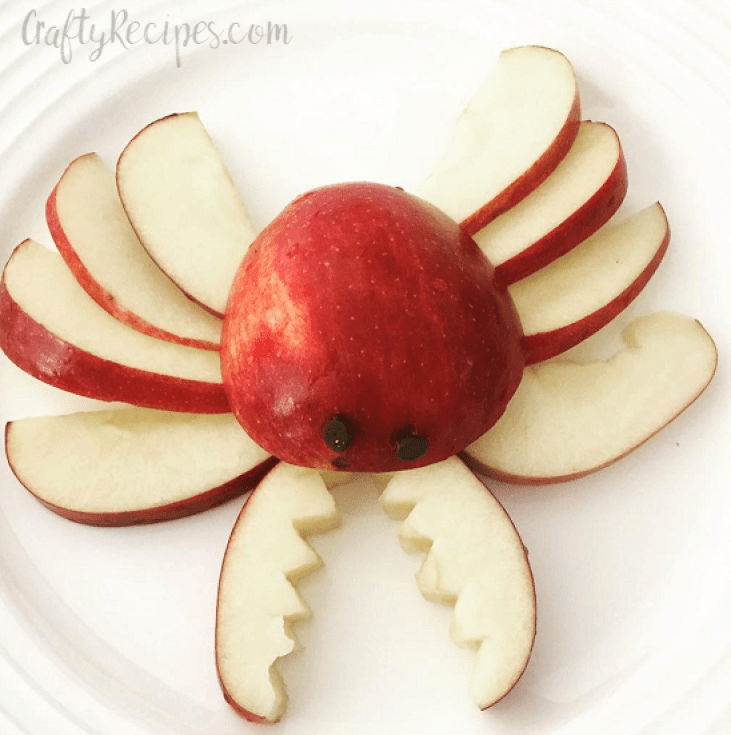 Kids Apple Food Art Crab