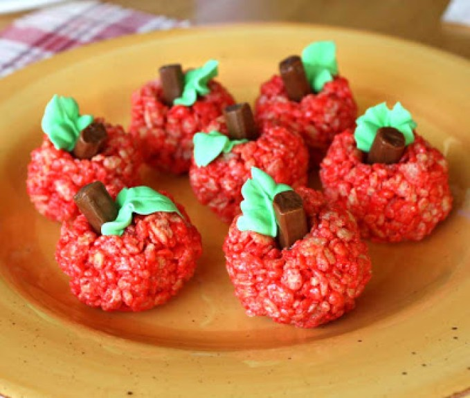 Kids Apple Food Art Rice Crispies