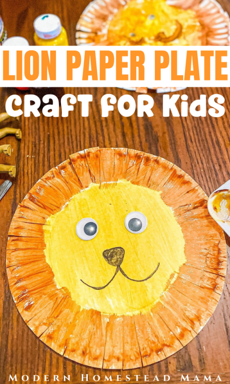 Paper Plate Lion Craft for Kids | Modern Homestead Mama