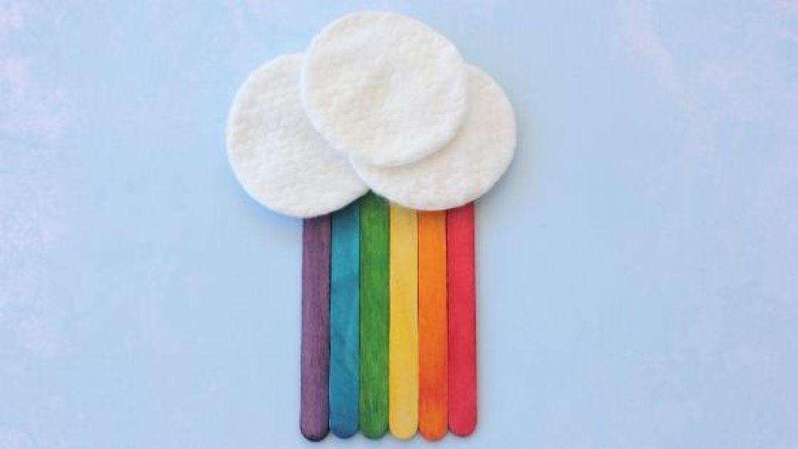 Popsicle Stick Rainbow Craft