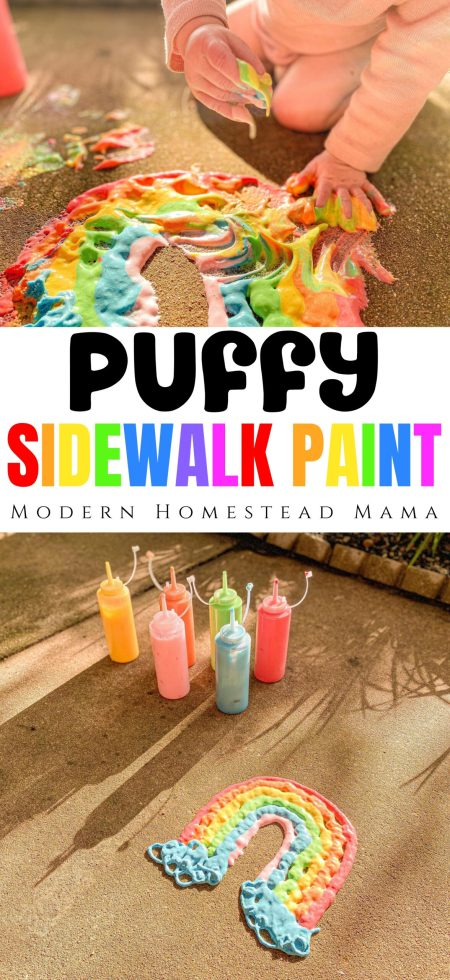 Puffy Sidewalk Paint (How to Make & Use Puffy Sidewalk Paint) | Modern Homestead Mama