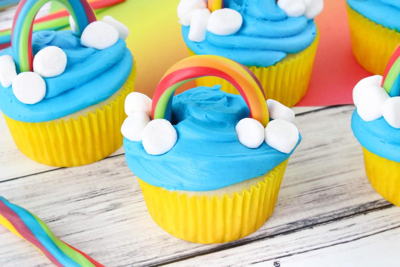 Rainbow Arc Cupcakes