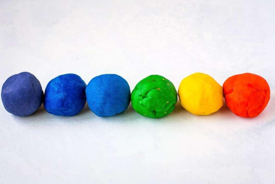 Rainbow Homemade Play Dough